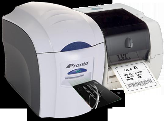 Impresota tarjeta y etiquetadora