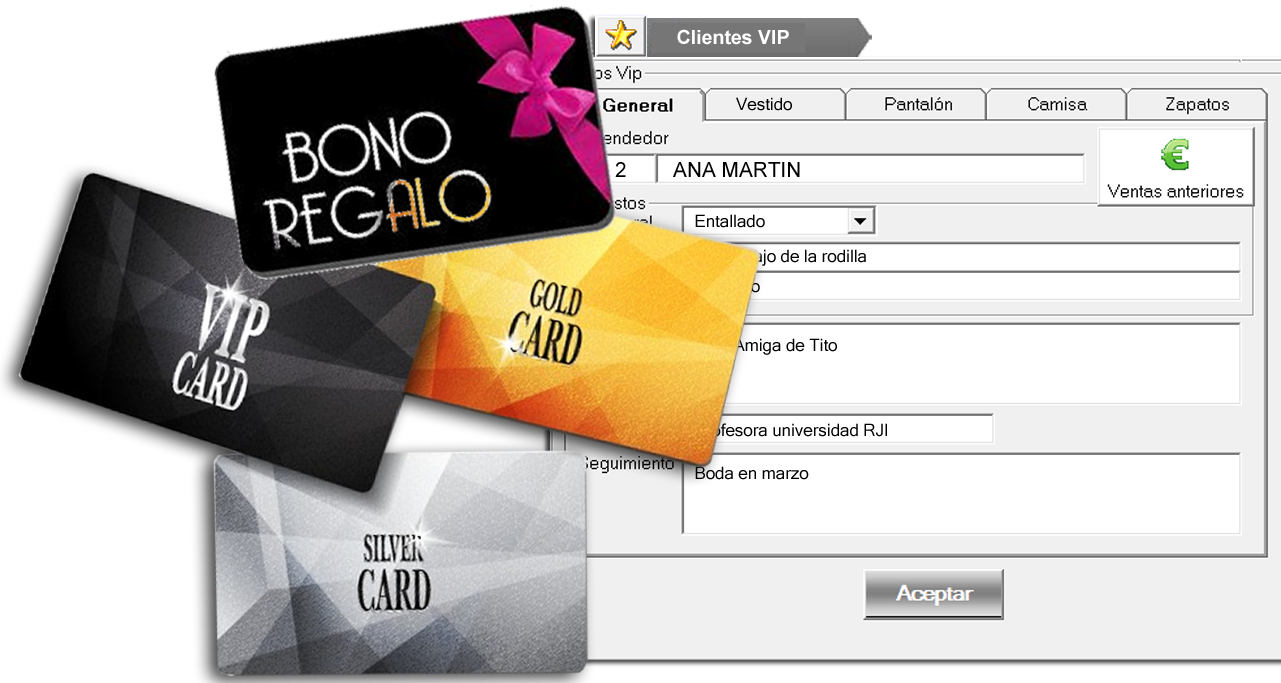 tarjeta fidelización Cliente VIP